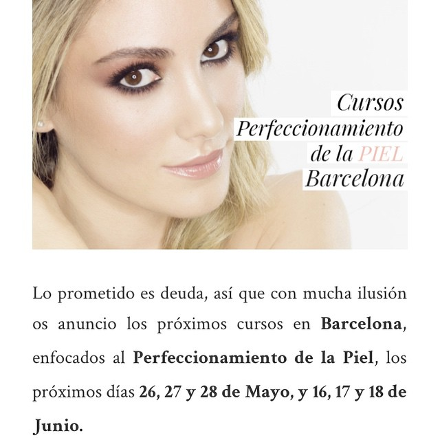 Ya podéis reservar vuestra plaza para los cursos de Barcelona :) www.makeupzone.net Modelo: @personalstyle_